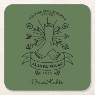 Frida Kahlo | Wings to Fly Square Paper Coaster