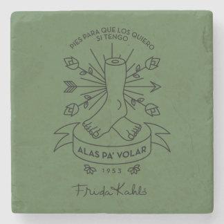 Frida Kahlo | Wings to Fly Stone Coaster