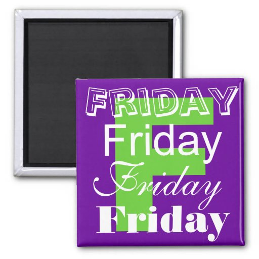 Friday Business Day of the week Magnet Fridge Magnet