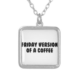 Friday Coffee Silver Plated Necklace
