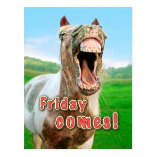 Friday comes postcard