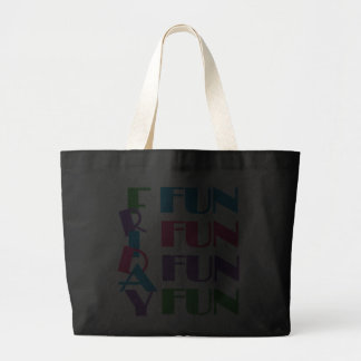 Friday! Fun Weekend Overnight Sleepover Party Tote Bags