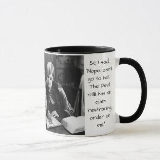 Friday Funnies Restraining Order Mug