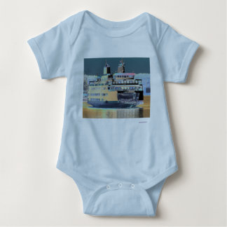 friday harbor ferry San juan island  | ferry land Baby Bodysuit