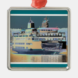 friday harbor ferry San juan island  | ferry land Metal Ornament