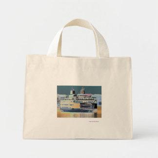 friday harbor ferry San juan island  | ferry land Mini Tote Bag