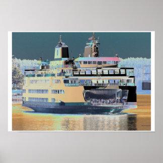 friday harbor ferry San juan island  | ferry land Poster