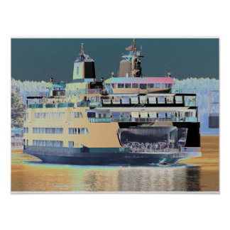 friday harbor ferry San juan island  | ferry land Poster