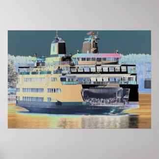 Friday Harbor Ferry San Juan Island - The Samish Poster