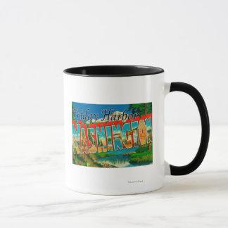 Friday Harbor, Washington - Large Letter Mug