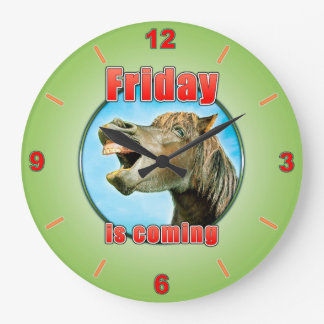 Friday is coming large clock