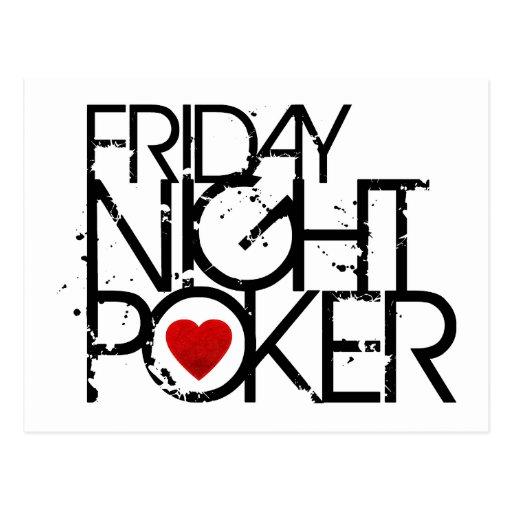 Friday Night Poker Post Cards