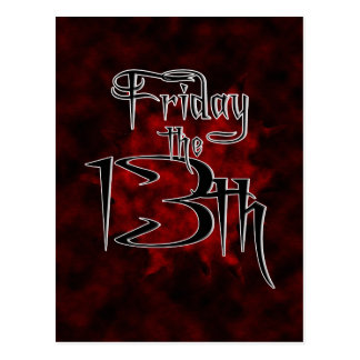 Friday The 13th ~ Any Month Postcard