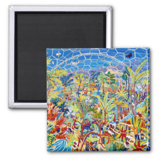 Fridge Art Magnet: The Eden Project. John Dyer Magnet