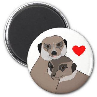 "Fridge-Magnet ""Meerkats in Love"" Magnet"