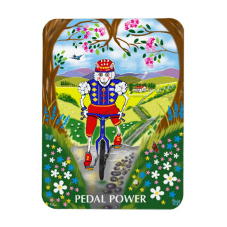 Fridge magnet sheep on a bike countryside fun