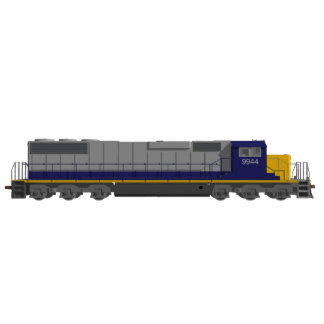 Fridge Magnet: Train Engine: 3D Model Photo Sculpture Magnet