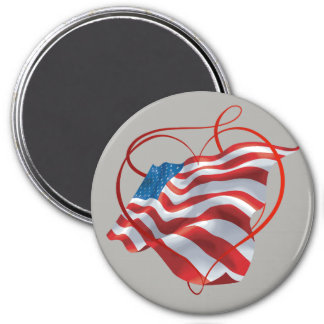 Fridge Magnet with American Flag Motive