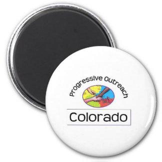 Fridge magnet with white logo