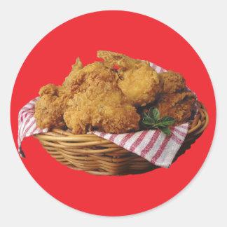 Fried Chicken Classic Round Sticker