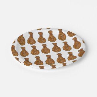 Fried Chicken Leg Drumstick Soul Food Plates