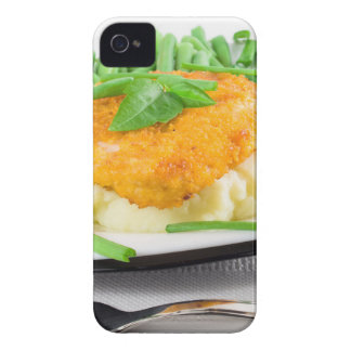 Fried chicken, mashed potatoes and green beans Case-Mate iPhone 4 case