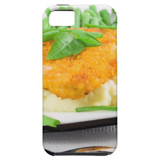 Fried chicken, mashed potatoes and green beans tough iPhone 5 case