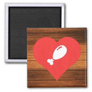 Fried Chicken Symbol Square Magnet