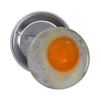 Fried egg 6 cm round badge