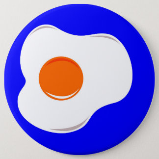 Fried egg 6 cm round badge