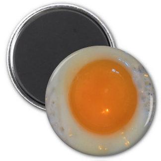 Fried egg 6 cm round magnet