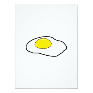 Fried Egg Cartoon Drawing Poached Eggs Sunny Side Card