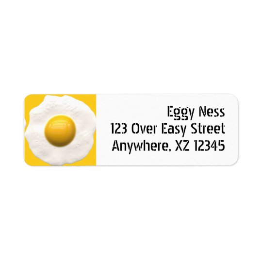 Fried Egg Return Address Label