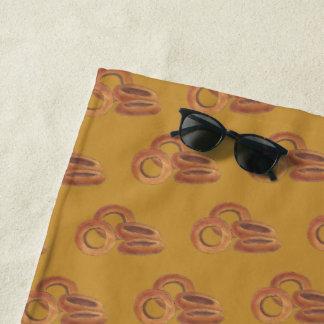 Fried Onion Rings Junk Fast Food Foodie Print Beach Towel