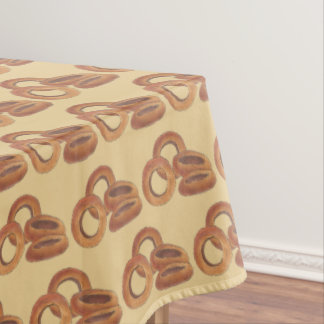 Fried Onion Rings Junk Fast Food Foodie Print Tablecloth