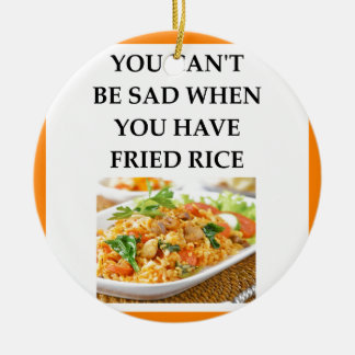 FRIED RICE CERAMIC ORNAMENT