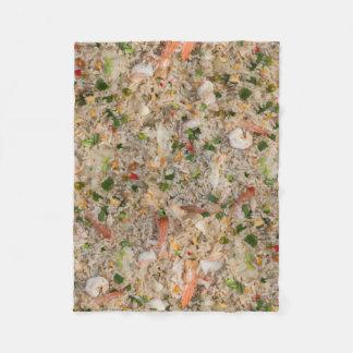 Fried Rice with Shrimp Fleece Blanket