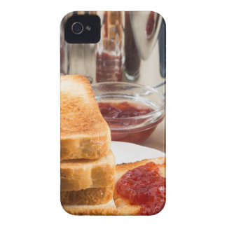 Fried toast with strawberry jam Case-Mate iPhone 4 case