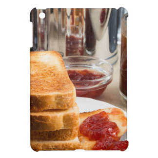 Fried toast with strawberry jam iPad mini cover