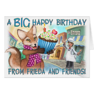Frieda Tails Birthday Card