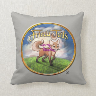 Frieda Tails throw pillow