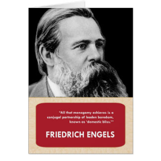 Friedrich Engels Anti-Valentine's Day Card