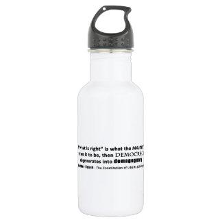 Friedrich Hayek Quote Democracy & Demagoguery 532 Ml Water Bottle