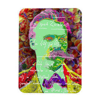 Friedrich Nietzche German Philosopher Existential Rectangular Photo Magnet