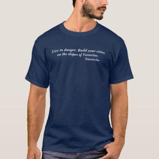 Friedrich Nietzsche Danger Quote T-Shirt