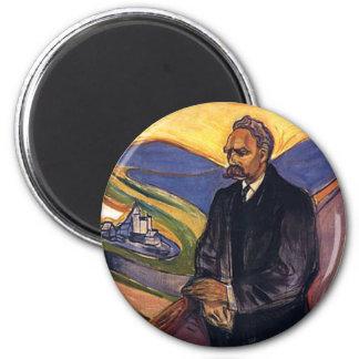 Friedrich Nietzsche Edvard Munch 6 Cm Round Magnet