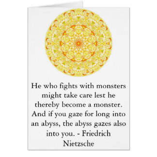 Friedrich Nietzsche - profound quotation Card