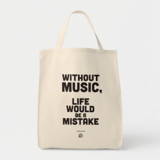Friedrich Nietzsche Quote - Grocery Tote Bag