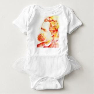 friedrich nietzsche - watercolor portrait.3 baby bodysuit