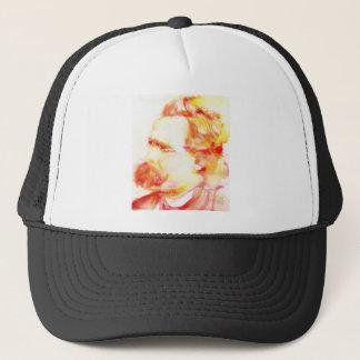 friedrich nietzsche - watercolor portrait.3 trucker hat